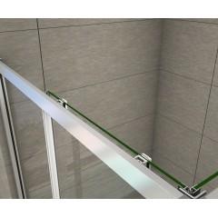 Sprchovací kút obdĺžnikový, SIMPLE 90x80 cm L/P variant, rohový vstup vrátane sprchovej vaničky z liateho mramoru
