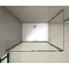 Obdĺžnikový sprchovací kút SYMPHONY 140 × 80 cm s posuvnými sprchovými dverami