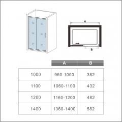Posuvné sprchové dvere SYMPHONY D2 100, 96 – 100 × 190 cm L/P variant