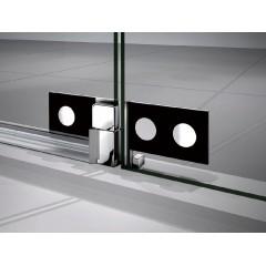 Sprchové dvere TIFANY B5 120 jednokrídlové s pevnou stenou 119 – 122 × 200 cm