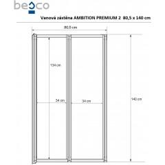Vanová zástěna Ambition Premium 2