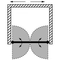 Sprchové dvere PURE D2 100 dvojkrídlové 96-101 x 190 cm