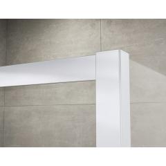 SanSwiss ECOP 0900 01 07 Jednokřídlé dveře 90 cm, matný elox/sklo