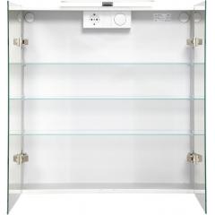 Jokey Plastik DEKOR ALU LED Zrkadlová skrinka – čierna, š. 65,5cm, v. 71,5cm, hl. 15,5cm 124512020-0700