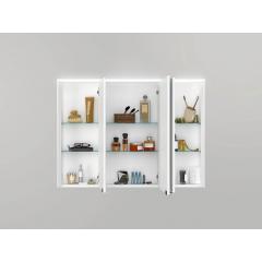 Jokey Plastik SPS-KHX 100 Zrkadlová skrinka – biela/drevený dekor tmavý, š. 100cm, v. 74cm, hl. 15cm 251013020-0960