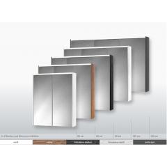 Jokey Plastik SPS-KHX 60 Zrkadlová skrinka – biela/antracit, š. 60cm, v. 74cm, hl. 15cm 251012020-0720