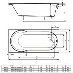 Akrylátová vaňa MANDI 170x75 cm