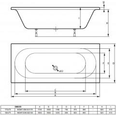 Akrylátová vaňa EMBER 170x75cm