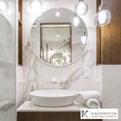 Okrúhle zrkadlo VALO Slim 90cm, biela
