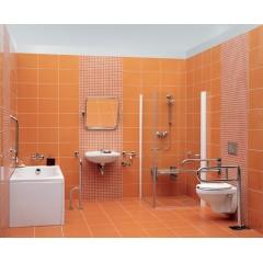CERSANIT - Nástěnné madlo 75 pro WC, pohyblivé K97-035