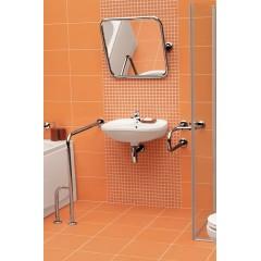 CERSANIT - Madlo 75x80 s montáží do podlahy a stěny pro WC, levé K97-038
