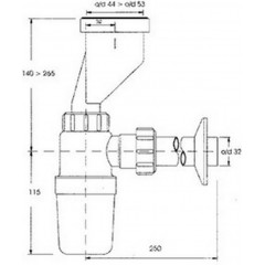 CERSANIT - Pisoárový sifón - fľaškový K97-016