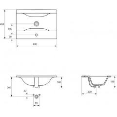 CERSANIT - Nábytkové umytadlo ONTARIO NEW 60 (K669-002)