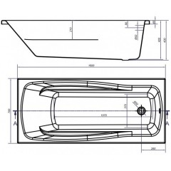 CERSANIT - VANA LANA 160x70 cm S301-162