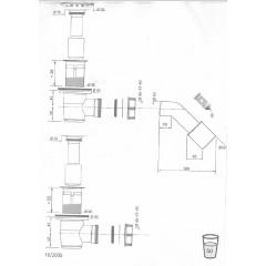 CERSANIT - sifón pre sprchové vaničky 821/50 S904-002