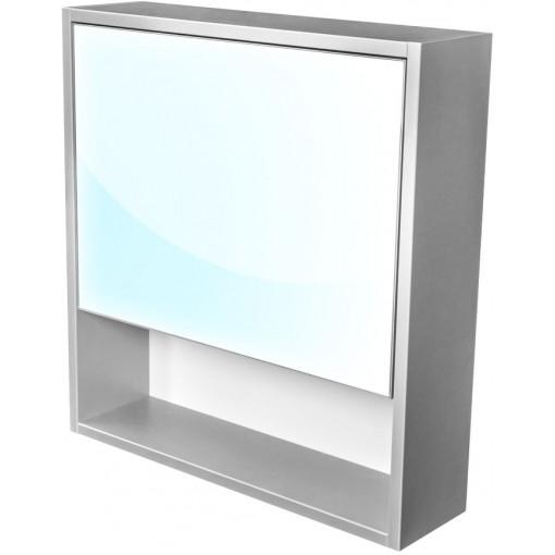 CEDERIKA - Amsterdam galerka 1x výklopné farba zrkadlo v AL ráme korpus korpus svetlosivá šírky 60 CA.G1V.191.060