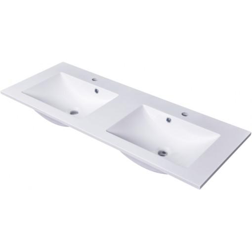 CEDERIKA - SLIM 120 umývadlo z liateho mramoru - BIELE CA.05494