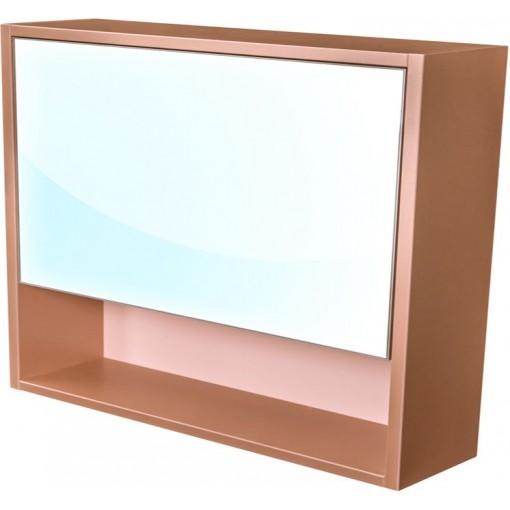CEDERIKA - Amsterdam galerka 1x výklopné farba zrkadlo v AL ráme korpus korpus metallic medený šírky 90 CA.G1V.193.090
