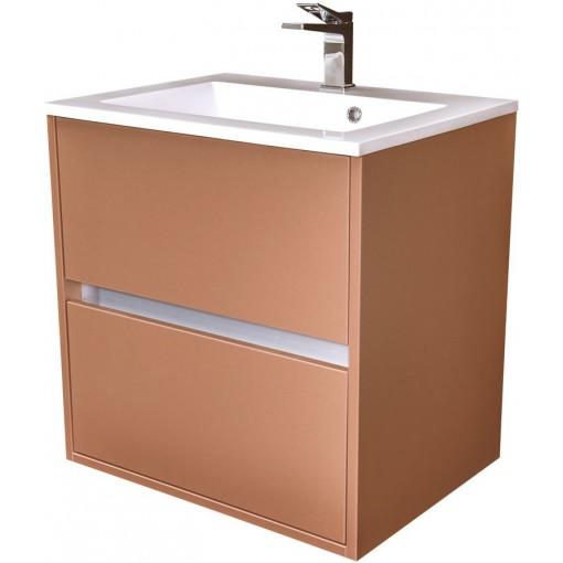 CEDERIKA - Amsterdam umývadlová 2x šuplík farba metallic medený korpus korpus metallic medený šírky 60 CA.U2B.133.060
