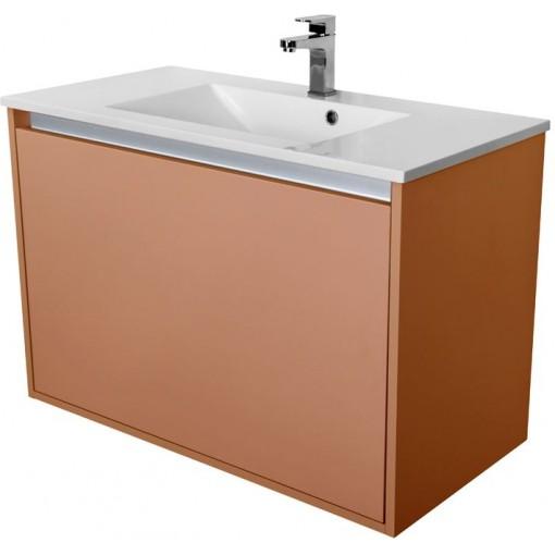 CEDERIKA - Amsterdam umývadlová 1x šuplík farba metallic medený korpus korpus metallic medený šírky 90 (CA.U1B.133.090)