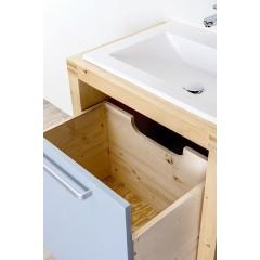 CEDERIKA - Bern umývadlová masív smrek natur lak MDF lak, ral 7040 šírka 85 CB.U1B.121.085