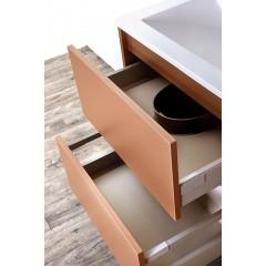 CEDERIKA - Amsterdam umývadlová 2x šuplík farba metallic medený korpus korpus metallic medený šírky 90 (CA.U2B.133.090)