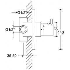 STEINBERG - Podomietkové univerzálne teleso pre termostatické batérie 010 4200