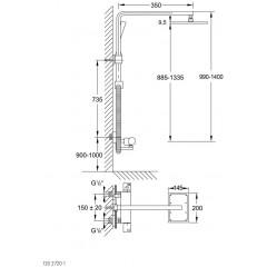 STEINBERG - Termostatický sprchový set (120 2720 1)