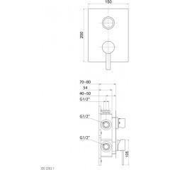 STEINBERG - Podomietková zmiešavacie páková batéria 3-cestná, chróm (120 2202 1)