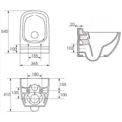 ALCAPLAST Renovmodul - predstenový inštalačný systém bez tlačidla + WC CERSANIT CLEANON CASPIA + SEDADLO AM115/1000 X CP1