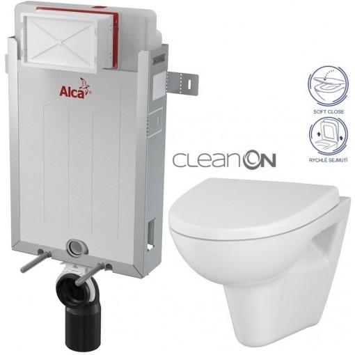 ALCAPLAST - SET Renovmodul - predstenový inštalačný systém + WC CERSANIT CLEANON Parva + SEDADLO (AM115/1000 X PA1)