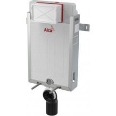 ALCAPLAST Renovmodul - predstenový inštalačný systém s bielym tlačidlom M1710 + WC CERSANIT CLEANON CREA štvorec + SEDADLO AM115/1000 M1710 CR2