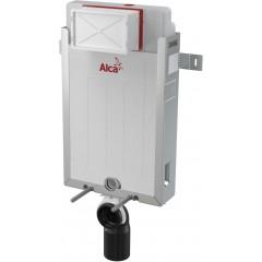 ALCAPLAST Renovmodul - predstenový inštalačný systém s bielym tlačidlom M1710 + WC LAUFEN PRO RIMLESS + SEDADLO (AM115/1000 M1710 LP1)