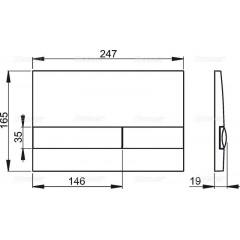 ALCAPLAST Renovmodul - predstenový inštalačný systém s bielym / chróm tlačidlom M1720-1 + WC CERSANIT CLEANON CREA štvorec + SEDADLO (AM115/1000 M1720-1 CR2)