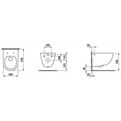ALCAPLAST - SET Renovmodul - predstenový inštalačný systém + tlačidlo M1721 + WC LAUFEN PRO RIMLESS + SEDADLO (AM115/1000 M1721 LP1)