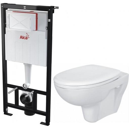 ALCAPLAST - SET Sádromodul - predstenový inštalačný systém určený pre suchú inštaláciu 1,2 m + WC CERSANIT PRESIDENT + SEDADLO (AM101/1120 X PR1)