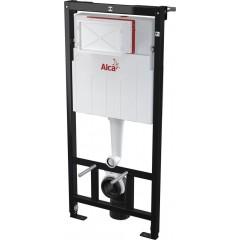 ALCAPLAST Sádromodul - predstenový inštalačný systém s bielym tlačidlom M1710 + WC CERSANIT CLEANON CARINA + SEDADLO (AM101/1120 M1710 CA1)