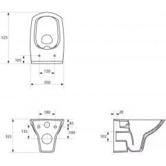 ALCAPLAST - SET Sádromodul - predstenový inštalačný systém + tlačidlo M1710 + WC CERSANIT CLEANON CARINA + SEDADLO (AM101/1120 M1710 CA2)