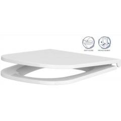 ALCAPLAST Sádromodul - predstenový inštalačný systém s bielym tlačidlom M1710 + WC CERSANIT CLEANON CASPIA + SEDADLO AM101/1120 M1710 CP1
