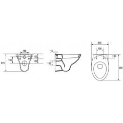 ALCAPLAST Sádromodul - predstenový inštalačný systém s bielym / chróm tlačidlom M1720-1 + WC CERSANIT ARES + SEDADLO (AM101/1120 M1720-1 AR1)