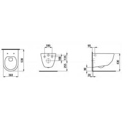 ALCAPLAST - SET Sádromodul - predstenový inštalačný systém + tlačidlo M1720-1 + WC LAUFEN PRO LCC RIMLESS + SEDADLO (AM101/1120 M1720-1 LP2)