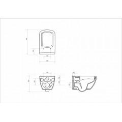 ALCAPLAST - SET Sádromodul - predstenový inštalačný systém + tlačidlo M1720-1 + WC CERSANIT CLEANON METROPOLITAN + SEDADLO (AM101/1120 M1720-1 ME1)