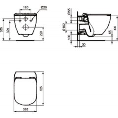 ALCAPLAST - SET Sádromodul - predstenový inštalačný systém + tlačidlo M1720-1 + WC TESI so sedadlom SoftClose, AquaBlade (AM101/1120 M1720-1 TE1)