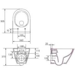 ALCAPLAST - SET Sádromodul - predstenový inštalačný systém + tlačidlo M1721 + WC CERSANIT CLEANON CITY + SEDADLO (AM101/1120 M1721 CI1)