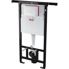 ALCAPLAST Jádromodul - predstenový inštalačný systém s bielym tlačidlom M1710 + WC CERSANIT CLEANON CARINA + SEDADLO AM102/1120 M1710 CA3