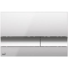 ALCAPLAST Jádromodul - predstenový inštalačný systém s chrómovým tlačidlom M1721 + WC CERSANIT CLEANON CARINA + SEDADLO (AM102/1120 M1721 CA2)