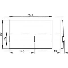ALCAPLAST Sádromodul - predstenový inštalačný systém s chrómovým tlačidlom M1721 + WC Ideal Standard Tesi se sedadlem (AM101/1120 M1721 TE3)