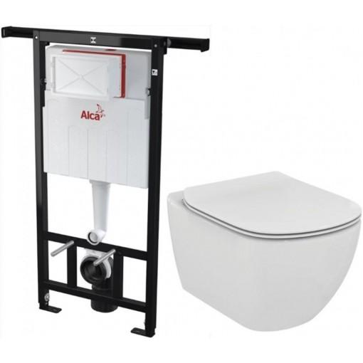 ALCAPLAST - SET Jádromodul - predstenový inštalačný systém + WC TESI (AM102 / 1120 X TE3)