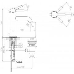 STEINBERG - Umývadlová páková batéria s výpusťou, chróm (100 1755)
