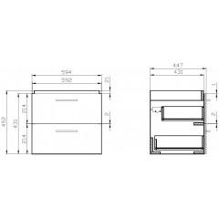 CERSANIT - SET 803 LARA CITY 60 (SKRINKA + UMÝVADLO) ORECH S801-143-DSM